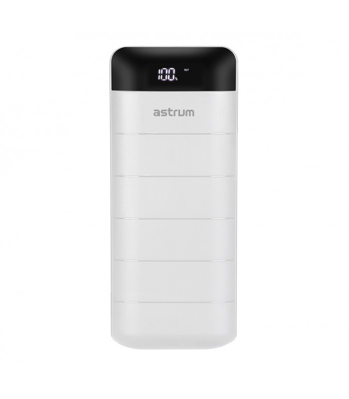 Astrum PB130 V2 Power Bank 12000mAh, 2X USB, 2A Fehér