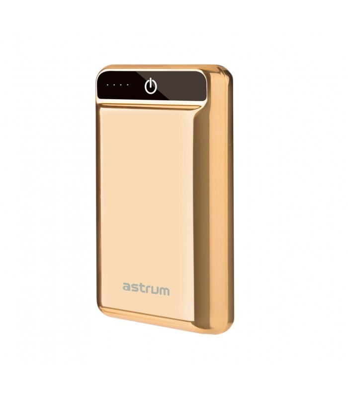 Astrum PB201 HD Mini Power Bank 10000mAh 2X USB, 2,4A Arany
